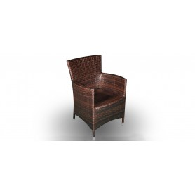 Cage Light armchair, color: G leather look brown