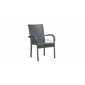 Simba Light armchair, color: G leather look brown