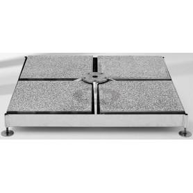 Base M4, 120 kg, galvanized steel