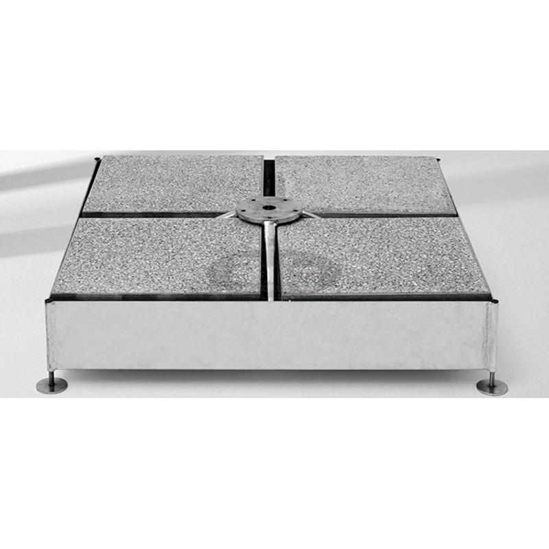 Base M4, 180 or 240 kg, galvanized steel