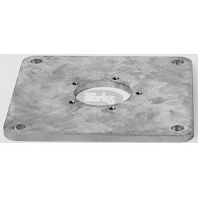 Mounting plate M4, galvanized steel